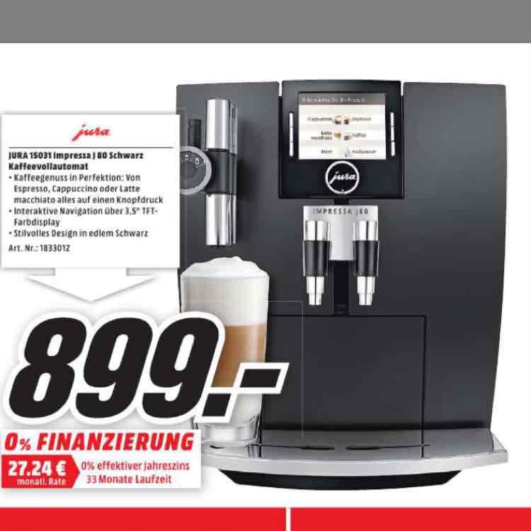 Media Markt Köln-Kalk Jura 15031 J80 Impressa Schwarz Kaffeevollautomat