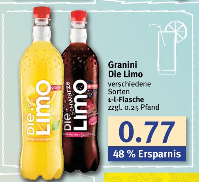 [NRW u. Nds][Combi/Jibi] Granini Die Limo für 0,37€ mit Coupon und weitere Angebote