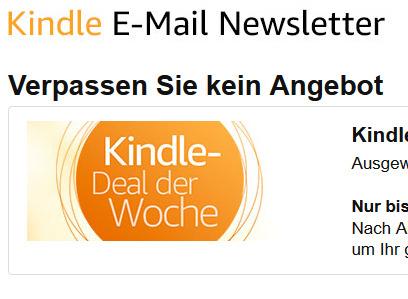 Gratis-eBook bei Anmeldung zu einem Amazon-eBook-Newsletter