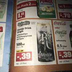 Relentless Energy Origin 0,5L 0,64€ inkl. Pfand @Thomas Philipps