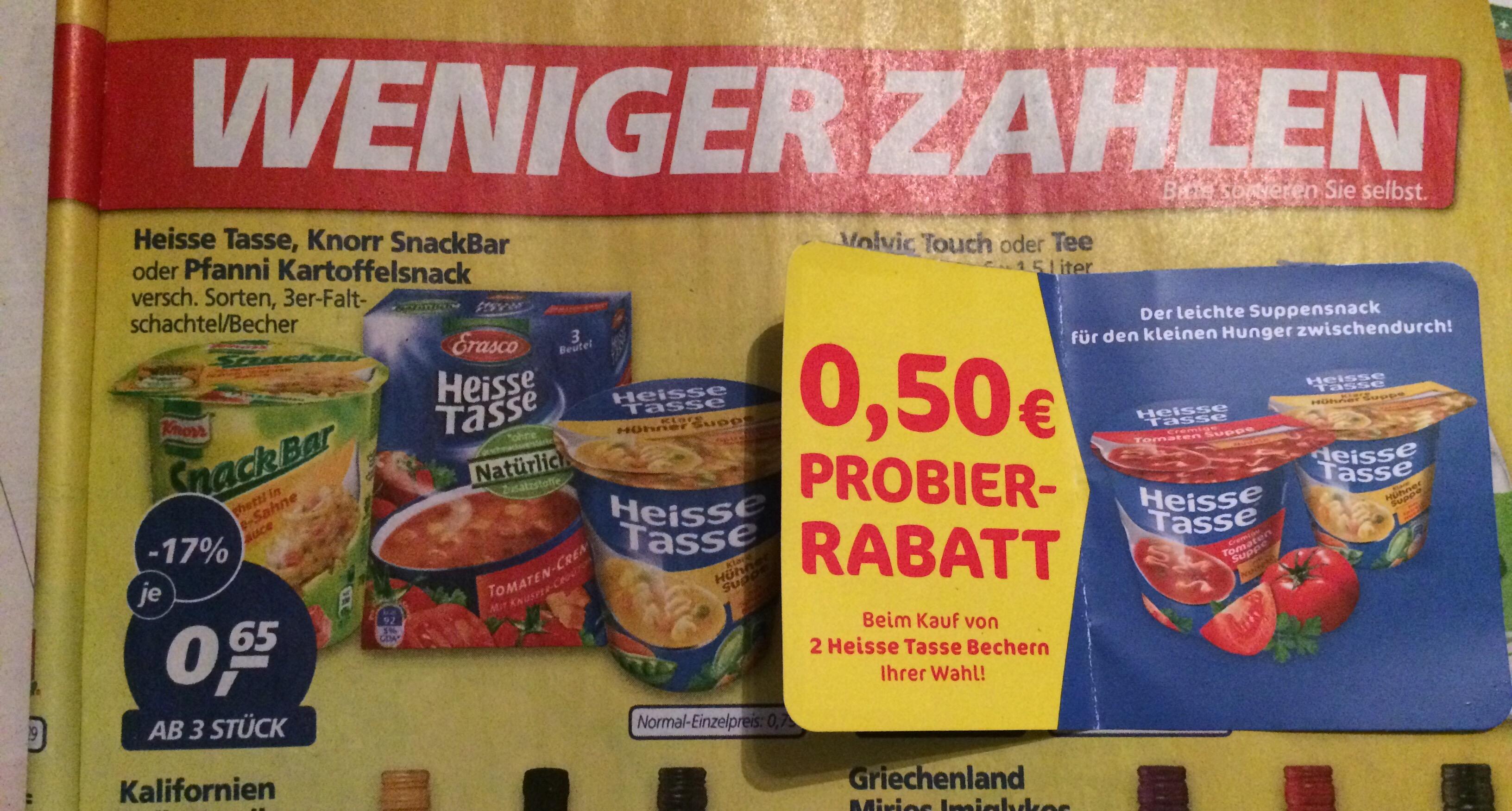 [real] 3 Becher Heisse Tasse für 1,45 (~48 cent pro Becher)