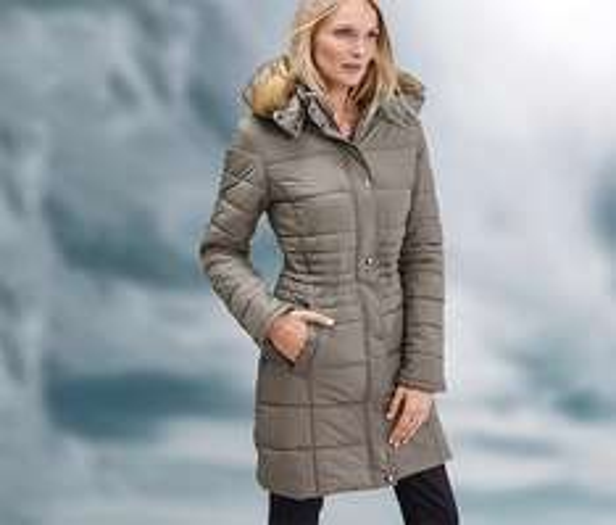 [Tchibo] Outdoor-Mantel, Größe 36-44, Abnehmbare Kapuze mit Kunstfell-Besatz + 8% shoop