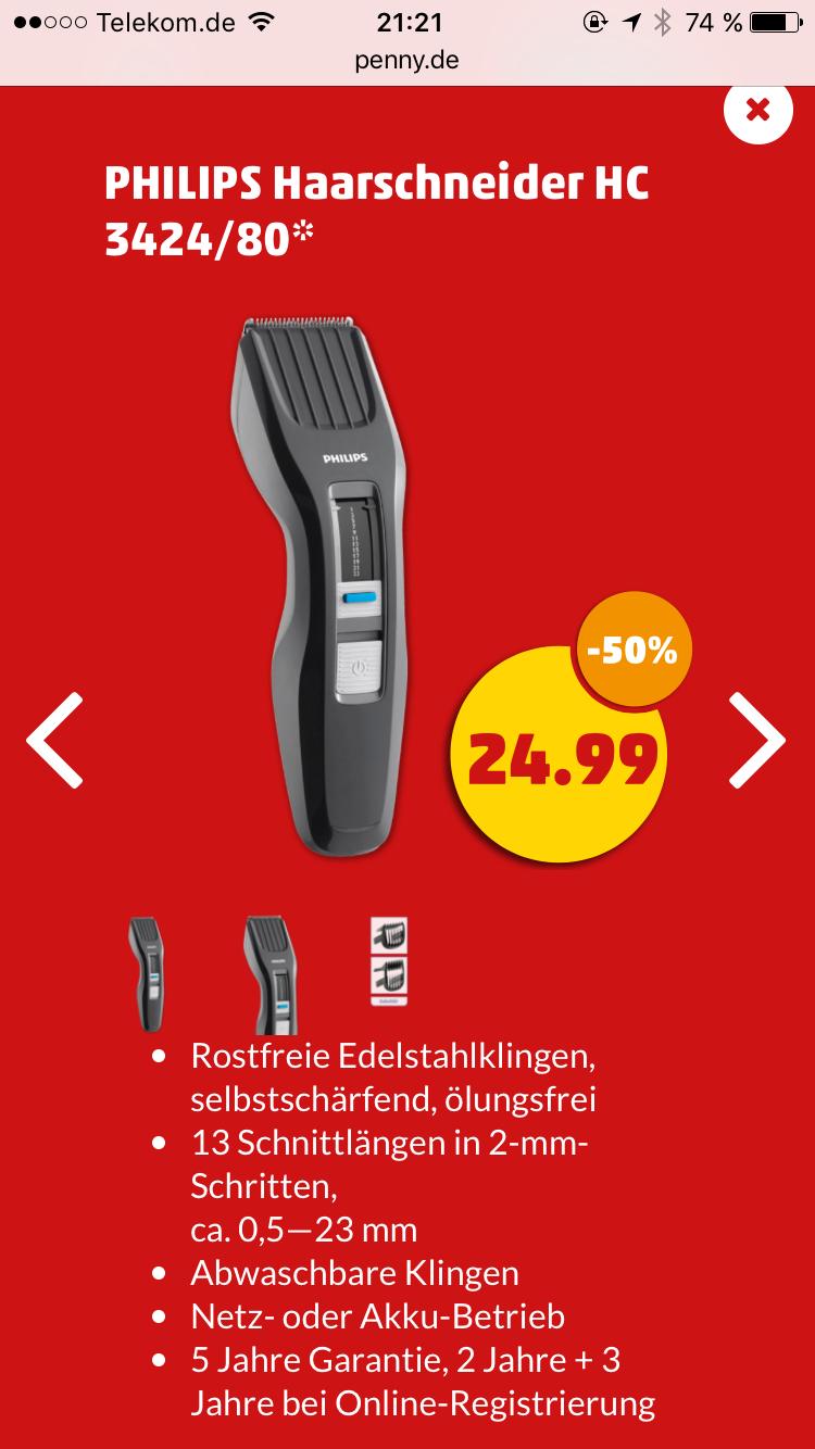 [Penny ab 09.03.] Philips Haarschneider HC 3424/80