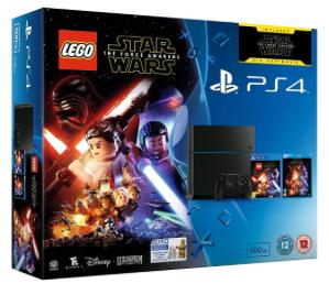 """Sony PlayStation 4 500GB gebraucht """"sehr gut"""" + Lego Star Wars: The Force Awakens + Film auf Bluray für 180,51€ @Amazon UK"""