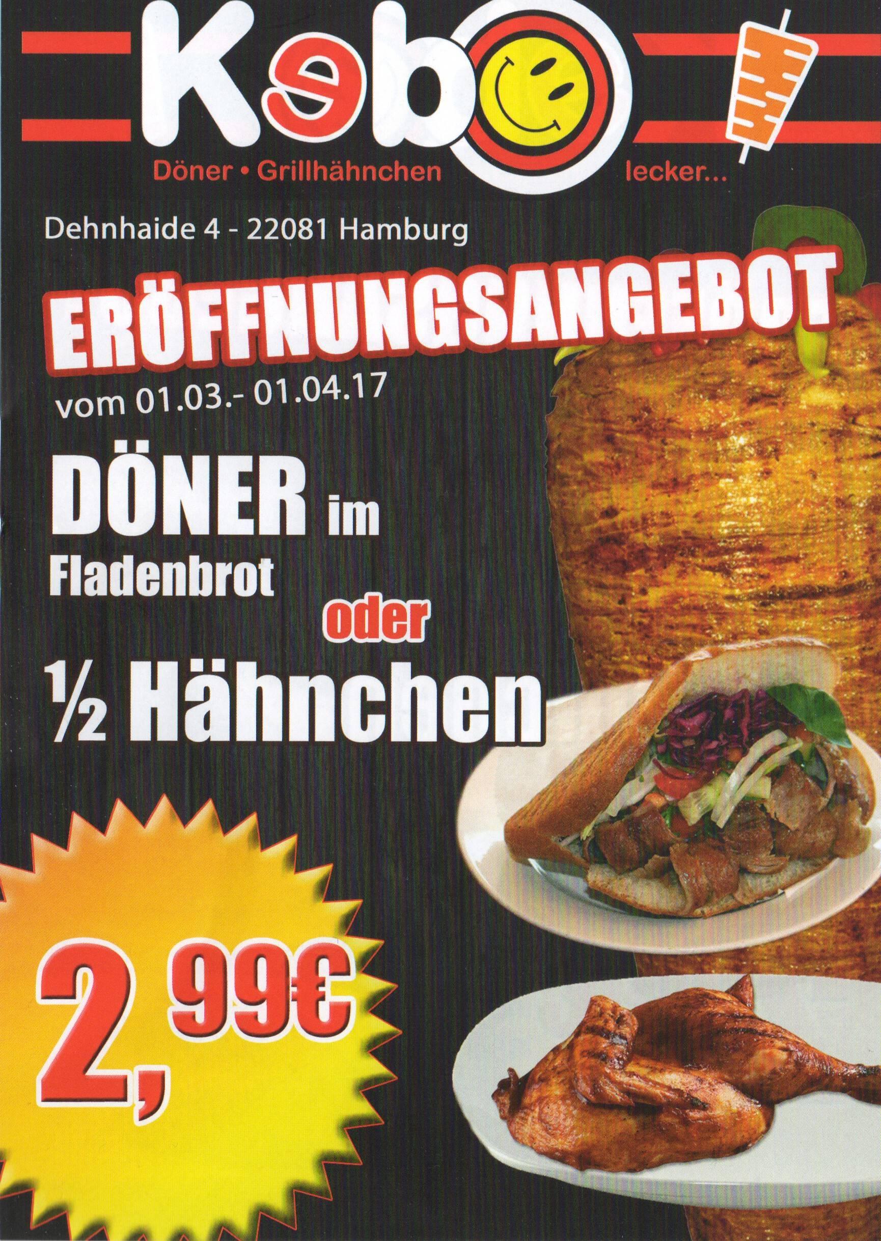 [lokal Hamburg Barmbek Süd] Döner Kebap für 2,99€