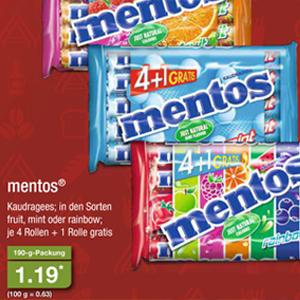 [Aldi Nord ab 17.03.] Mentos (Mint, Fruit oder Rainbow) 5er Pack für 1,19€