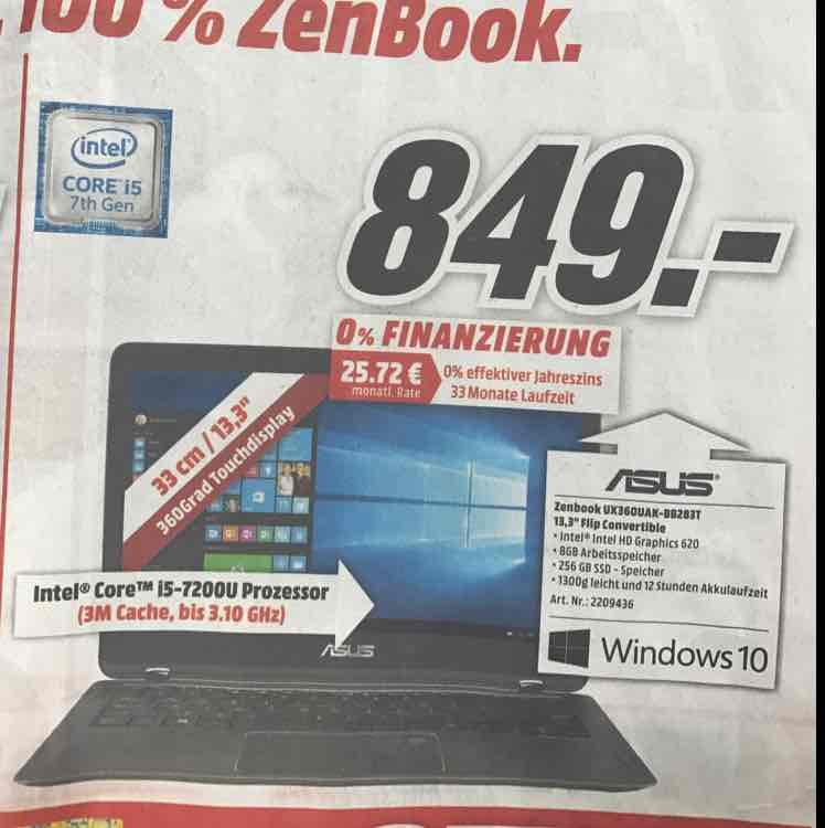 Asus Zenbook UX360 [MediaMarkt]