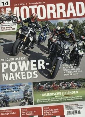 MOTORRAD Zeitschrift - Jahresabo für 37,90 statt 107,90 - Bargeldprämie