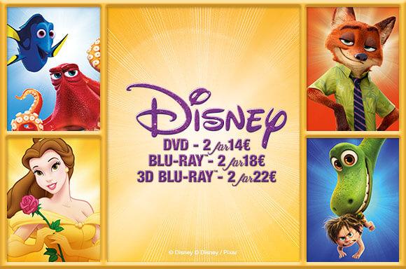 [zavvi] [Blu-ray] Disney Filme 2 für 18€, oder 2 3D-Versionen für 22€, z.B. Findet Dorie, Star Wars: Das Erwachen der Macht, Dschungelbuch...