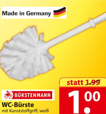 WC-Bürste (Made in Germany) vom Bürstenmann für nur 1€ bei Famila Nordost