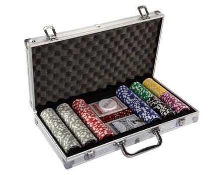 Texas Hold'em Poker-Set, 300 Chips, Aluminium-Koffer