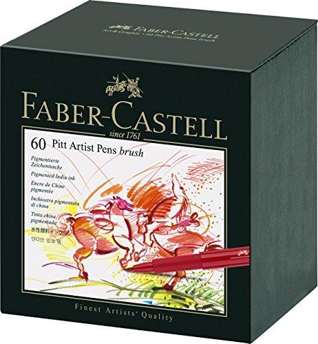 [Amazon] Faber-Castell 167150 - Tuschestift Pitt artist pen, Stärke: B, 60er Atelierbox