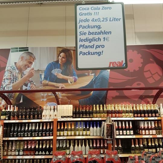 Real Eschweiler - - Coca-Cola Zero 0,25 liter Dosen Gratis nur Pfand