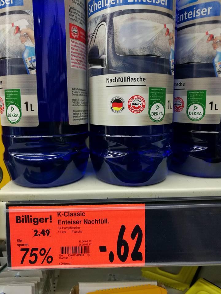 [Kaufland Cannstatt] 1 Liter Scheiben-Enteiser 75% reduziert, statt 2,49€