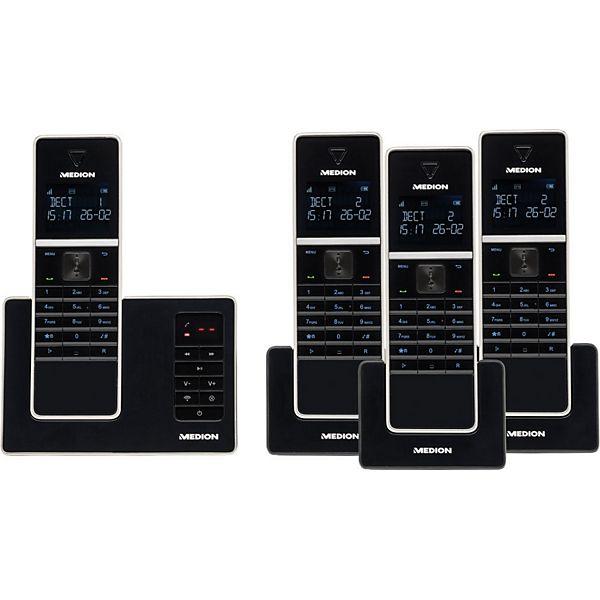 [Plus] DECT Telefon mit 4 Mobilteilen MEDION® LIFE® P63994 (MD 84994)