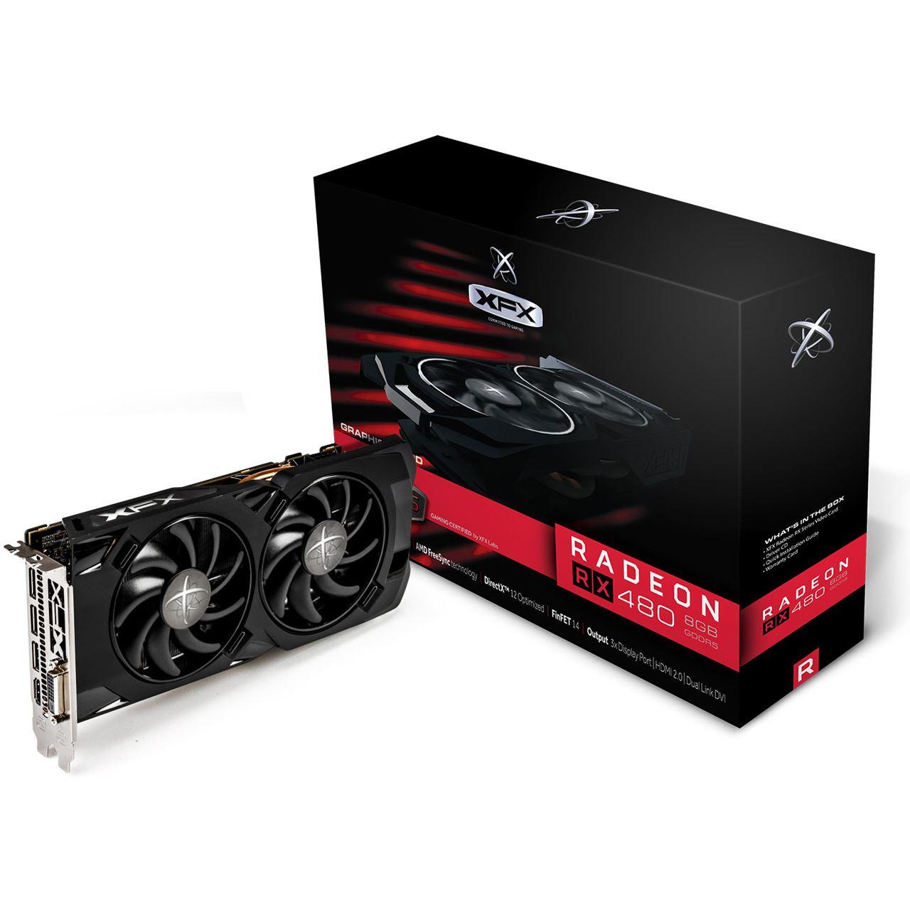 4GB XFX Radeon RX 480 RS Aktiv PCIe 3.0 x16 (Retail) + Doom