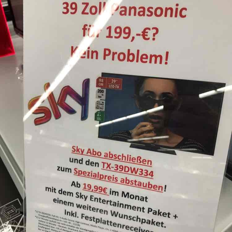 TX39DW334 für 199,-€ + Sky für 19,99€