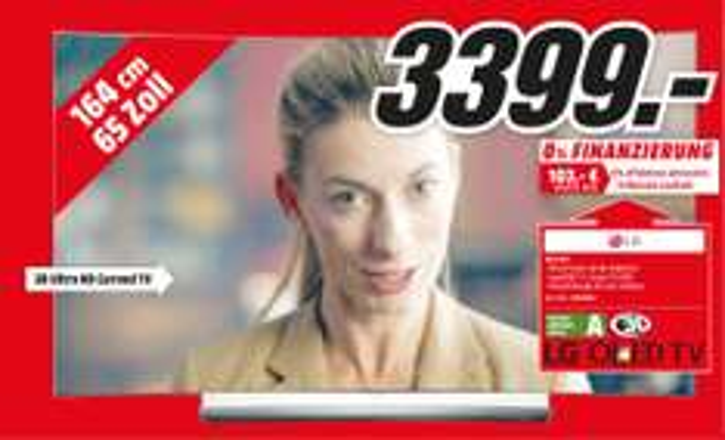 (Lokal) LG 65C6D Curved UHD 4K OLED 3D Smart TV @ Mediamarkt Köln Kalk