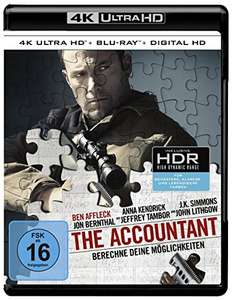 [Amazon] The Accountant (4K Ultra HD) (+ Blu-ray) Ben Affleck, J.K. Simmons, Anna Kendrick, Jon Bernthal, John Lithgow