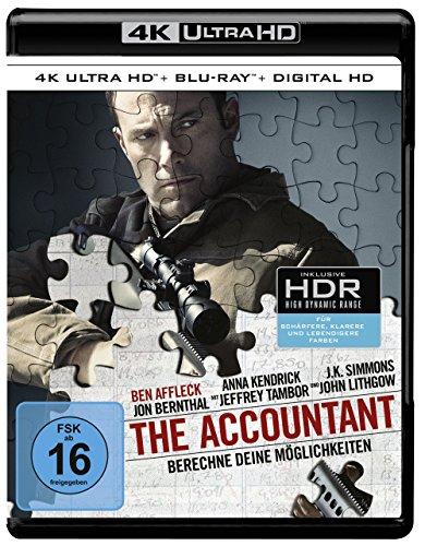 [Amazon] The Accountant (4K Ultra HD) (+ Blu-ray) Ben Affleck, J.K. Simmons, Anna Kendrick, Jon Bernthal, John Lithgow