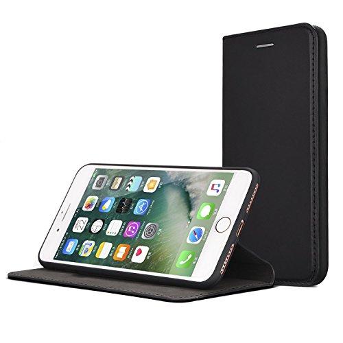 IPhone 7 Plus - Rinder Echtleder Hülle - schmale Bauform, kaum auftragend