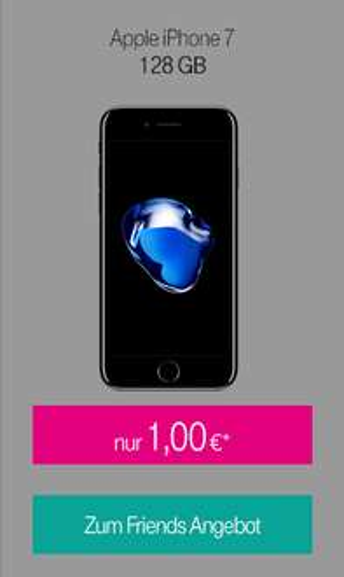 Apple iPhone 7 128 GB, 7 Plus 32 GB oder Huawei P10 Plus (+ Leica Sofort Kamera) für 1 € im Telekom Magenta Mobil M (Friends) Tarif