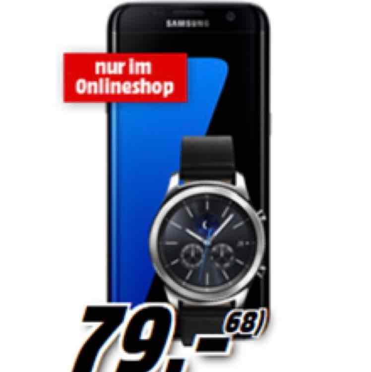 Mediamarkt: Samsung Galaxy S7 edge + Samsung Galaxy Gear S3 + Samsung Gear VR Brille (einmalig zusammen 79€) im Telekom Tarif mit 2GB Daten, SMS Flat + Sprachflat für 34,99€/Monat