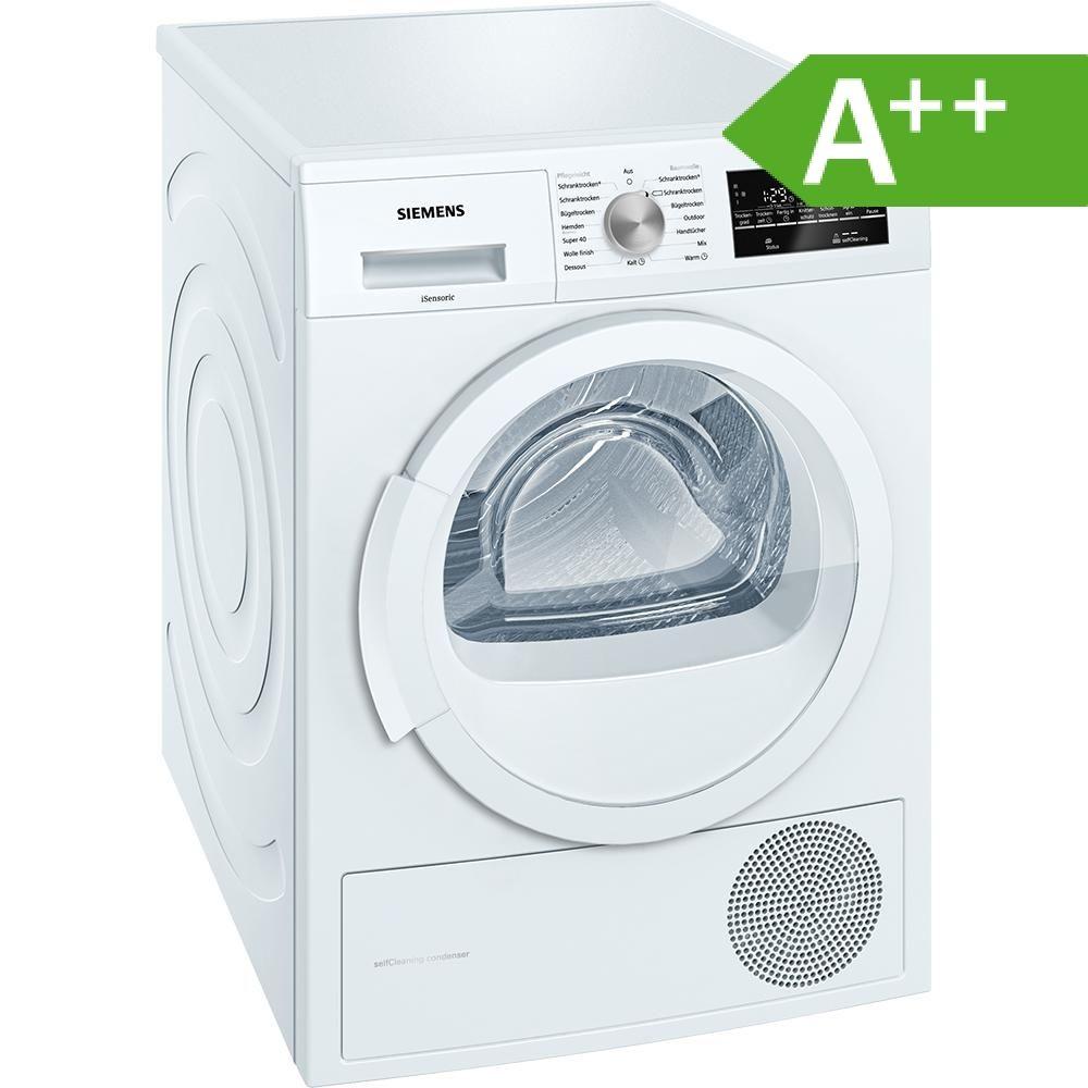 Siemens WT45W460 iQ500 für 413,10€- Wärmepumpentrockner, 7 kg, A++