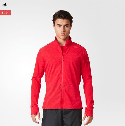 Bis zu 50% Rabatt auf adidas Running-Artikel, z.B. Supernova Storm Laufjacke in 2 Farben für 44,95€ statt 64,87€