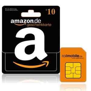 [PREPAID SIM] 10 Euro Amazon + 10 Euro Startguthaben für 2,95 Euro im D Netz. [Callmobile]