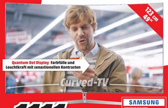 SAMSUNG UE49KS9090 Curved SUHD 49'' Fernseher mit Quantum Dots [MediaMarkt Bremen]