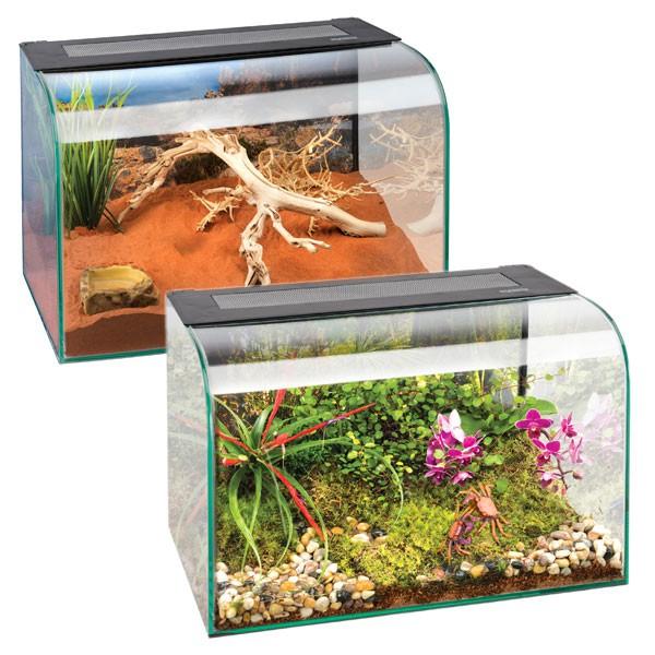 [ZooRoyal] Exo Terra Habisphere Terrarium für Kleintiere 45 cm x 30 cm x 30 cm