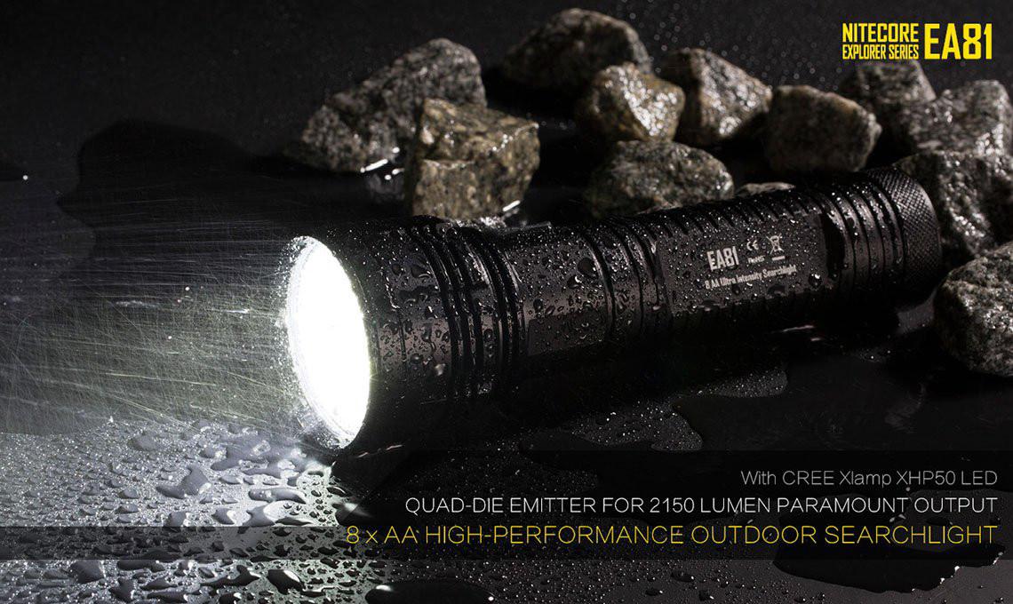 Großer Lampen-Sale bei Gearbest: Nitecore EA81 für 51,27€ statt 115€ im PVG (hellste AA-Taschenlampe mit über 2000 Lumen und 500 Meter Reichweite, kein Li-Ion notwendig, Betrieb zum Beispiel mit Eneloop), Germany Express ohne Aufpreis