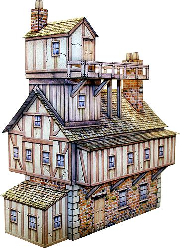 [Nischendeal] Gebäudemodelle aus Papier für z.B. Modelleisenbahn, Warhammer, Diorama, Tabletops etc.