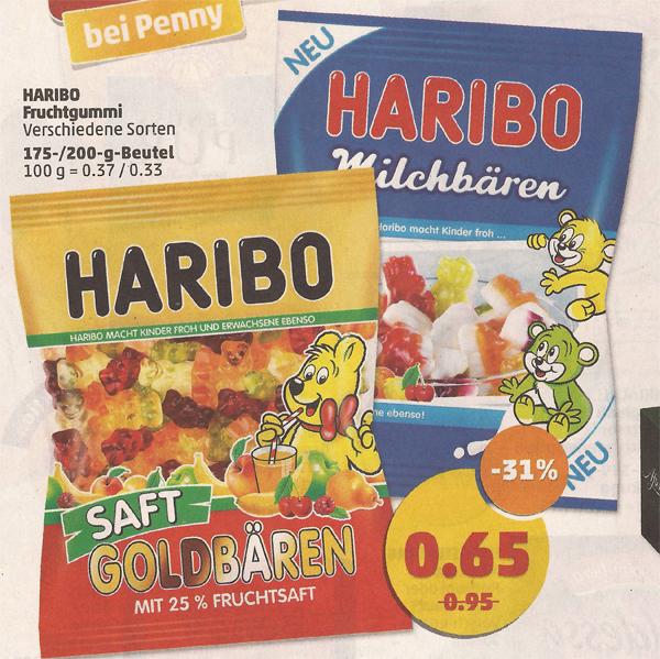 [Penny ab 13.03.] HARIBO Fruchtgummi in verschiedene Sorten 175/200g für 0,65€