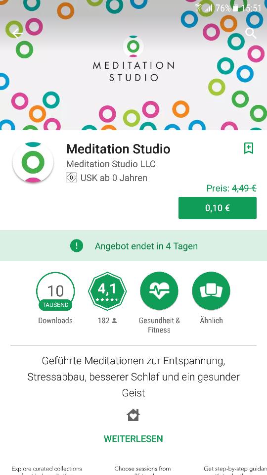 Play Store Meditation Studio