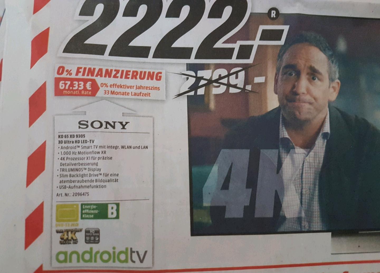 Sony KD 65 XD 9305 [MM Ludwigsburg]