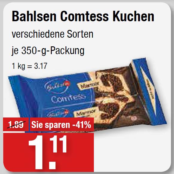 [V-Markt + couponplatz.de] Bahlsen Comtess Zitrone 71 ¢