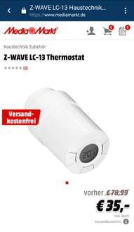 [MediaMarkt] Danfoss LC-13 Z-Wave Thermostat