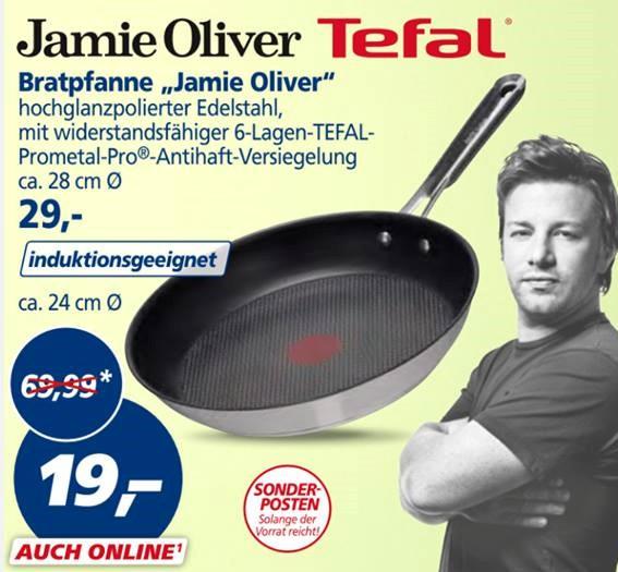 Tefal Jamie Oliver Pfannen 24cm/28cm & Glasdeckel 28cm