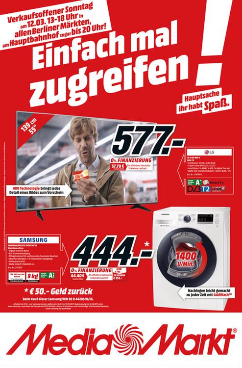 [Lokal Berlin] SAMSUNG WW 90 K 44205 W/EG Waschmaschine 9 kg mit AddWash nach Samsung-Cashback für 394€