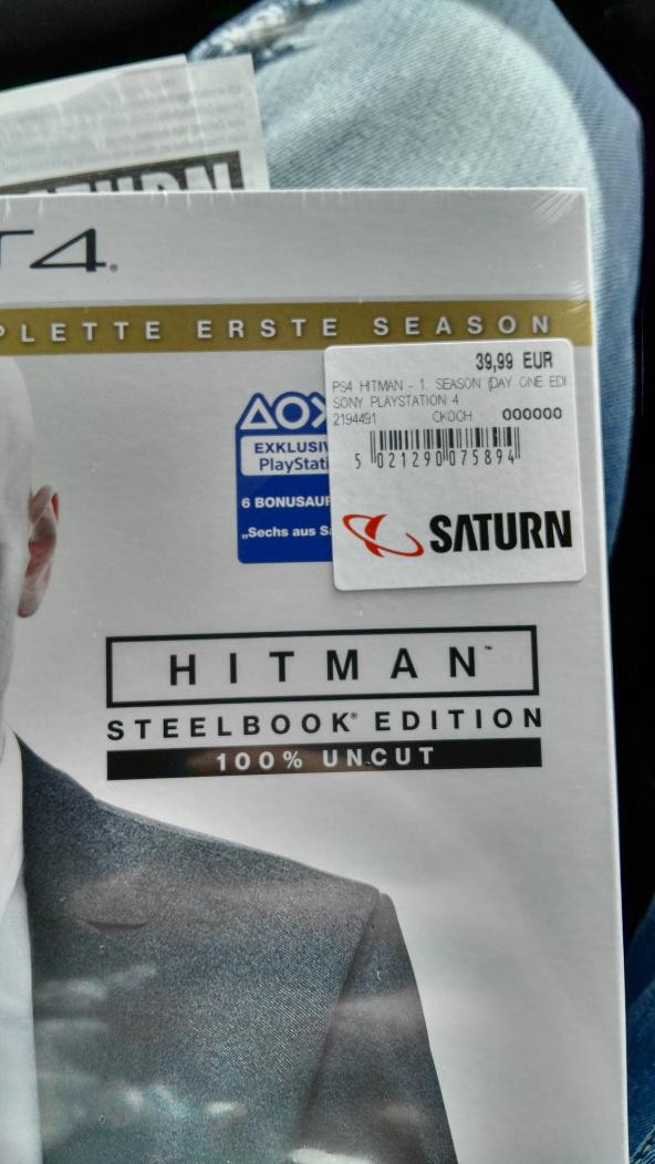 Saturn Neckarsulm (Lokal) Hitman PS4 für 39,99