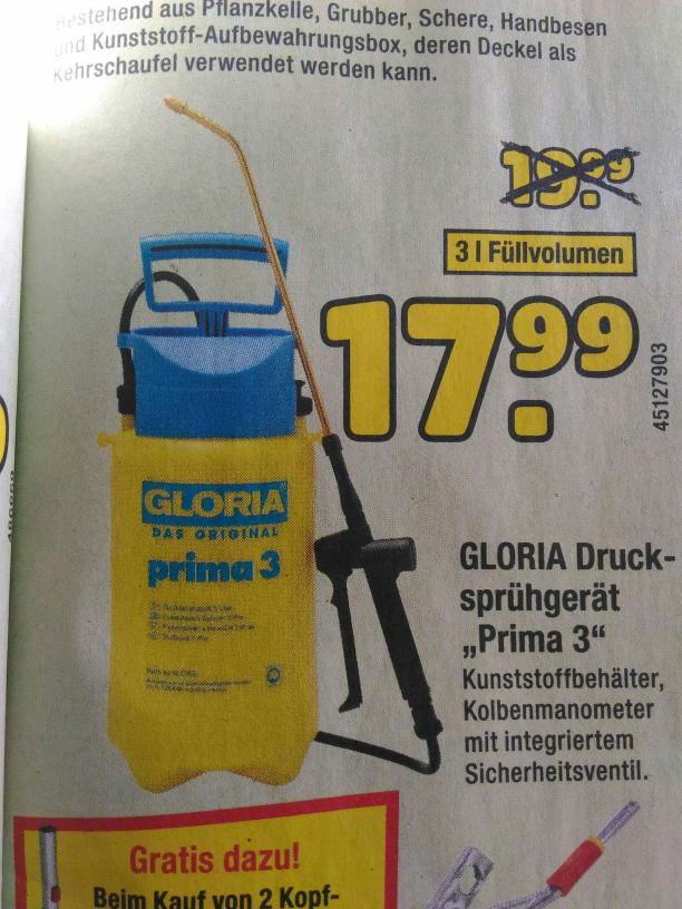 (Mainz  ggf. bundesweit) Gloria Prima 3 Drucksprüher