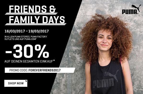 Forever Friends mit Puma: Drei Tage lang 30% Rabatt auf den gesamten Einkauf (auch Sale)