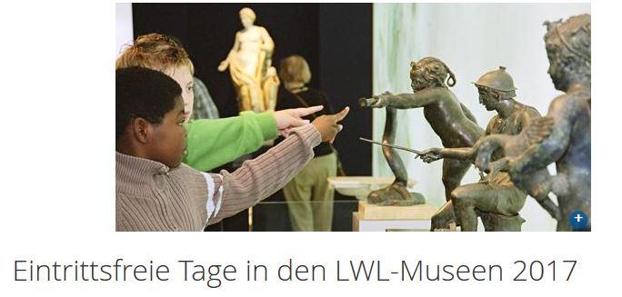 Freier Eintritt in LWL-Museen in NRW 2017