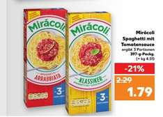[Kaufland] Miracoli Spaghetti für 79 Cent nach Couponabzug, ab 16.03.2017