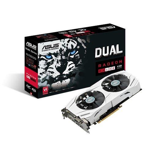 Asus Radeon Dual-RX480-O4G Grafikkarte (4GB GDDR5 Speicher, PCIe 3.0, HDMI, DVI, DisplayPort) für 181.43€ [Amazon.co.uk]