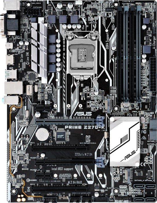 Asus Prime Z270-K Mainboard (4x DDR4, 2x PCI x16, 2x M.2, USB Typ-C, 6x SATA, AMD CrossFire) für 125,01€ - 20€ Cashback = 105,01€ [NBB]