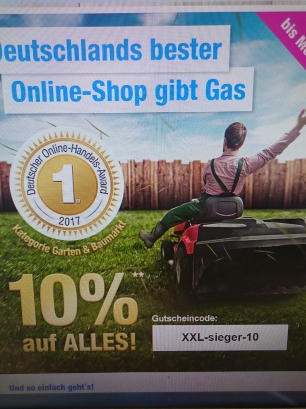 Aktion 10% bei Garten XXL