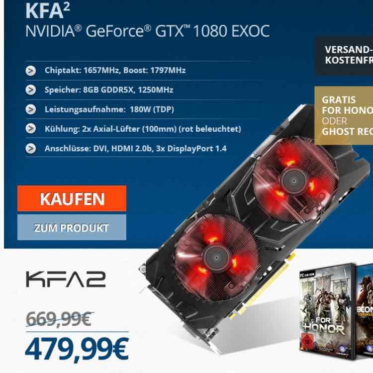 Gtx 1080 von KFA2 bei one